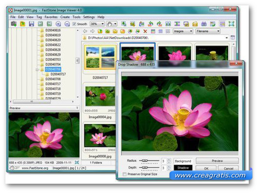 Interfaccia grafica del programma FastStone Image Viewer