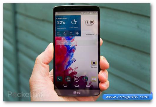 Display di uno smartphone Android