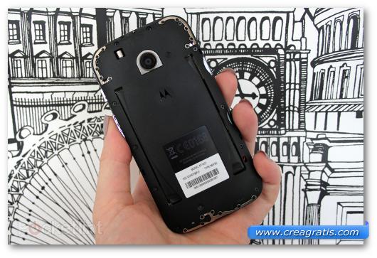 Immagine della batteria di uno smartphone Android