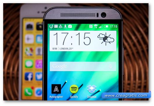 Schermo di uno smartphone Android