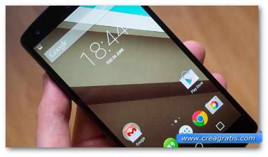 Immagine di uno smartphone Android generico