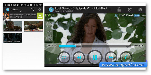 Immagine del video player BSPlayer per Android