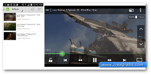 Immagine del video player DicePlayer per Android