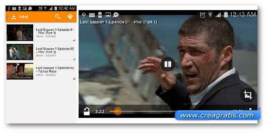 Immagine del video player VLC per Android