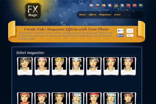 Immagine del sito EffectsMagic per creare fotomontaggi