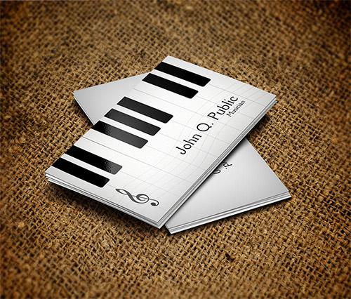 Immagine del biglietto da visita per musicisti n.1