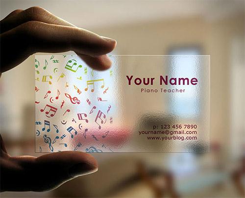 Immagine del biglietto da visita per musicisti n.4