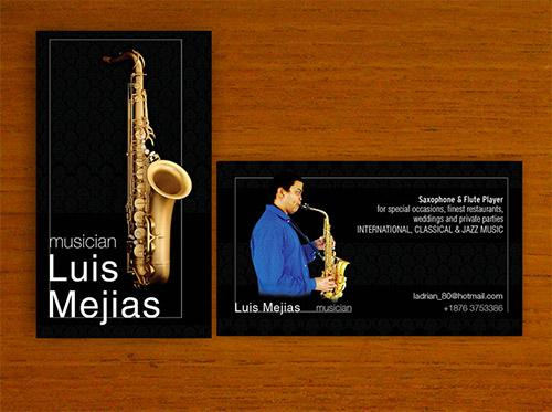 Immagine del biglietto da visita per musicisti n.5