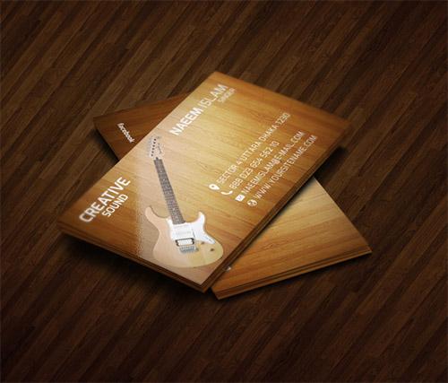 Immagine del biglietto da visita per musicisti n.20