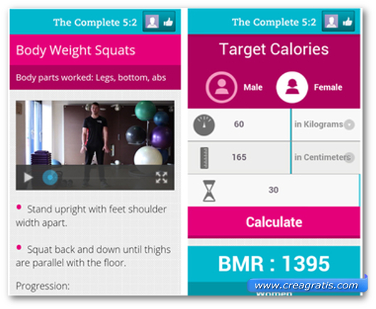 Schermate dell'app The Complete 5:2 Diet