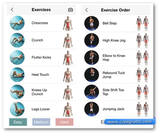 Schermate dell'app Adrian James Body Transformation Pack