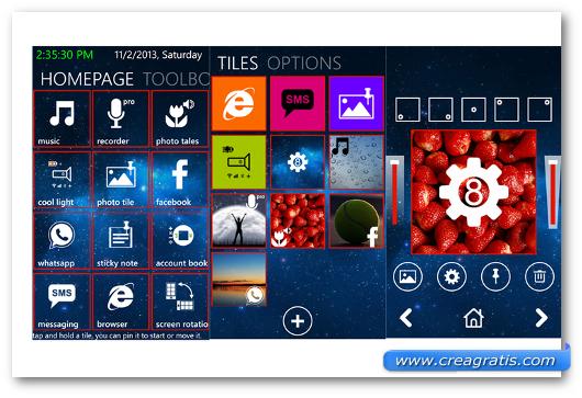 Schermate dell'app Cool Tiles per Windows Phone