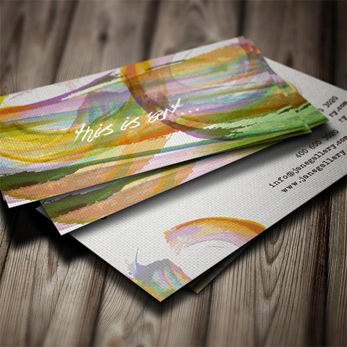 Immagine del biglietto da visita con colori ad acquerello n.14