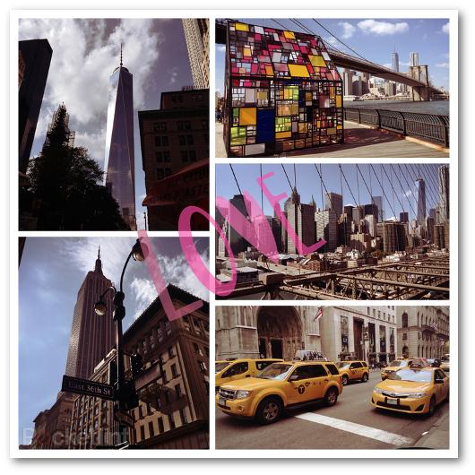 Esempio di collage di foto creato con l'app Photo Grid