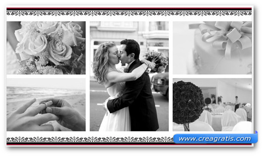 Template A Wedding Photo Album per PowerPoint