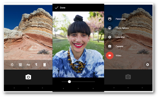 Schermate dell'app Google Camera per Android