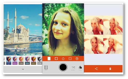 Schermate dell'app Retrica per Android