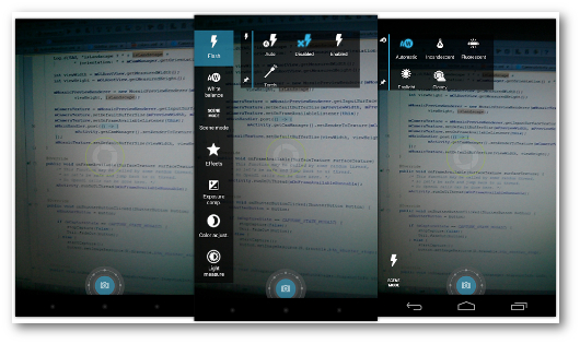 Schermate dell'app Focal per Android