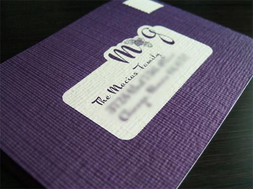 Immagine del biglietto da visita in rilievo n. 8