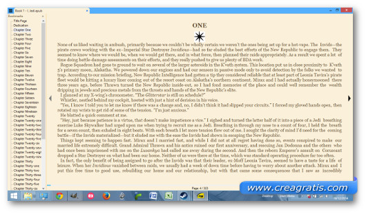 Schermata del programma Sumatra per Windows