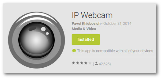 Immagine dell'app IP Webcam per Android