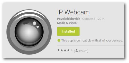 Immagine dell'app IP Webcam per Android