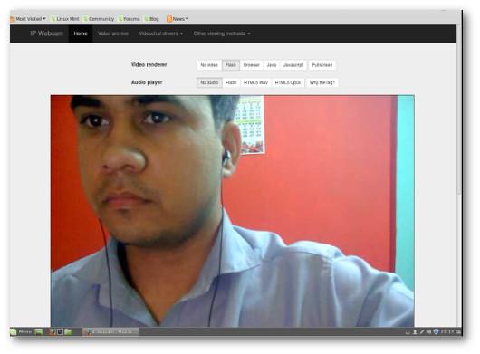 Esempio di video mostrato dal browser e catturato dal telefono spia