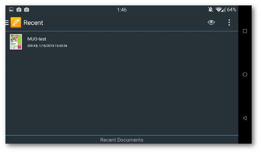 Schermata dell'app PDF Max per Android