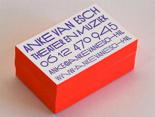 Immagine del biglietto da visita con colori forti n.5