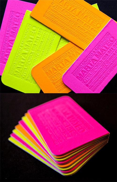 Immagine del biglietto da visita con colori forti n.11