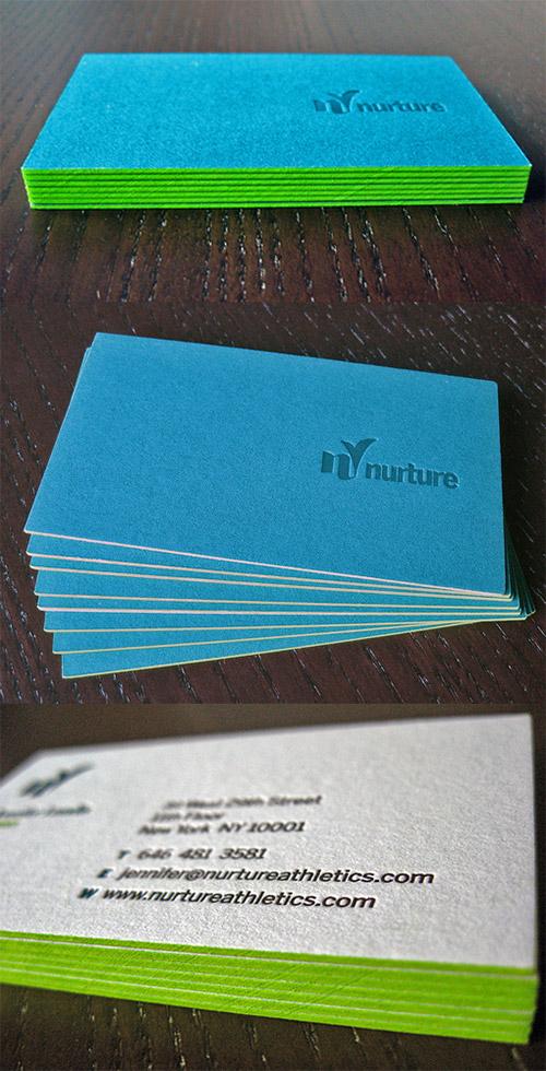 Immagine del biglietto da visita con colori forti n.25