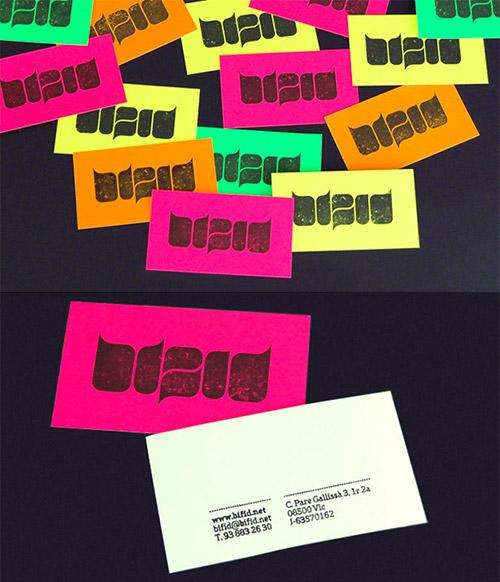 Immagine del biglietto da visita con colori forti n.30