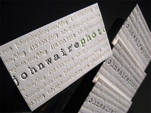 Immagine del biglietto da visita con logo impresso n. 3