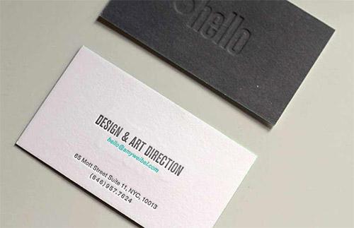 Immagine del biglietto da visita con logo impresso n. 6