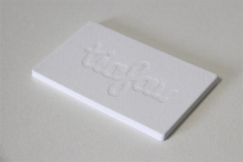 Immagine del biglietto da visita con logo impresso n. 11