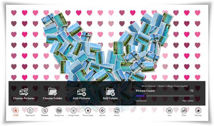 Schermata dell'app El Collagero per Windows