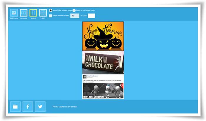 Schermata dell'app Photo Joiner per Windows