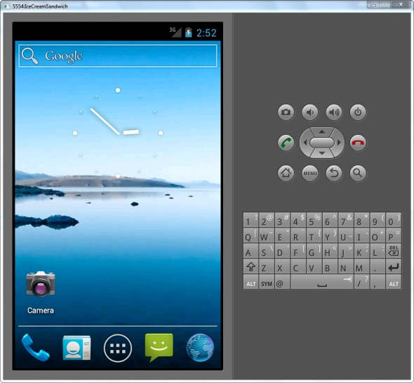 Schermata dell'emulatore Android Studio