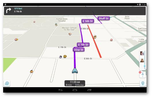 Immagine del navigatore Waze per Android