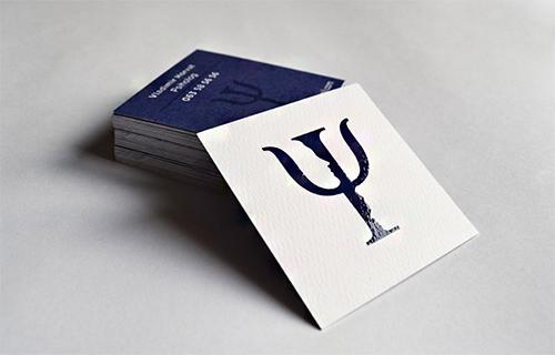Immagine del biglietto da visita viola n.02