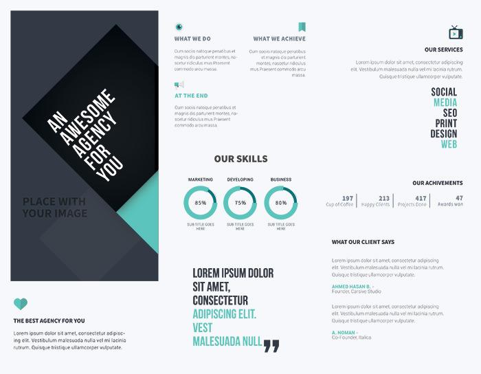 Modello di brochure in PSD da scaricare gratis n.6