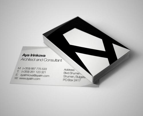 Immagine del biglietto da visita per architetti n.02