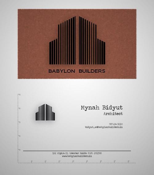 Immagine del biglietto da visita per architetti n.06