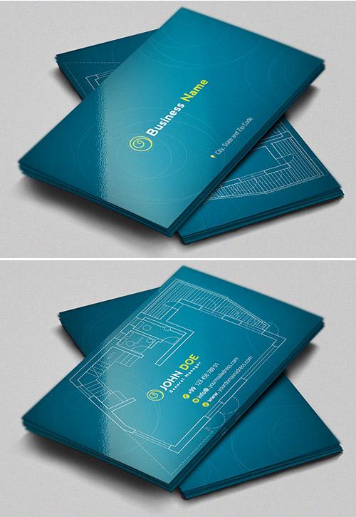 Immagine del biglietto da visita per architetti n.15