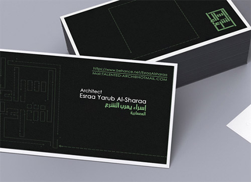 Immagine del biglietto da visita per architetti n.21