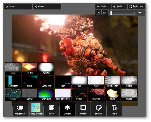 Schermata del programma Autodesk Pixlr