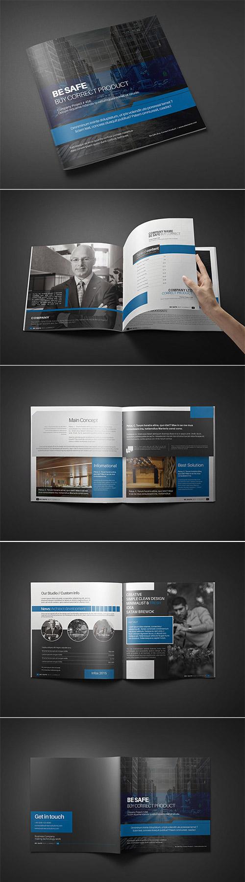 Esempio di brochure quadrata n.01
