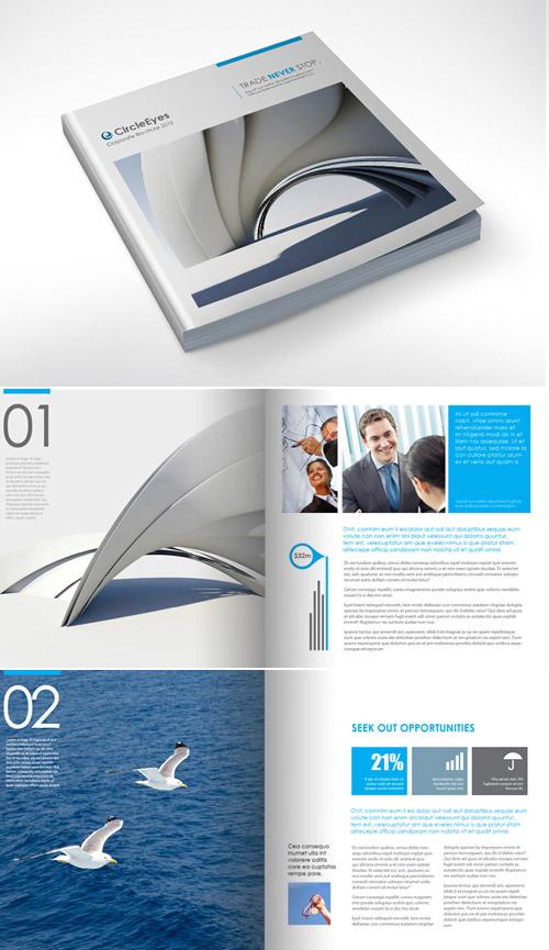 Esempio di brochure quadrata n.04