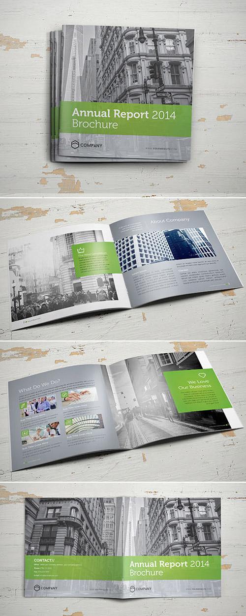 Esempio di brochure quadrata n.08