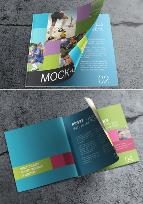 Esempio di brochure quadrata n.16